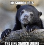 My School Uses The Bing Search Engine...