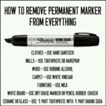 How To Remove Permanent Marker...