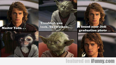Master Yoda... Troubled You Look...
