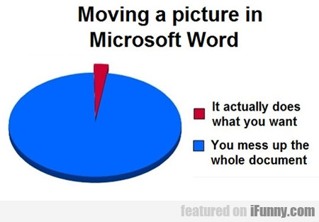 When Moving A Picture In Microsoft Word...