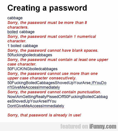 Creating A Password...