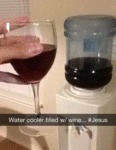 Water Cooler Filled With Wine... #jesus...