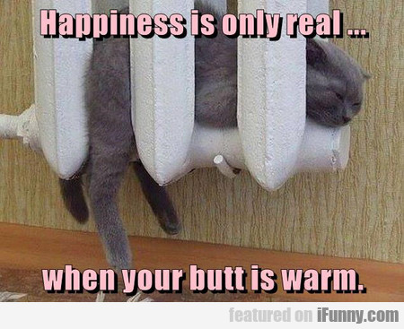 Happiness Is Only Real When Your Butt Is Warm