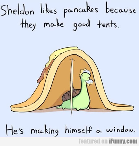 Sheldon Likes Pancakes Because They Make Good Tent