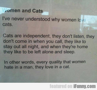 Women And Cats…