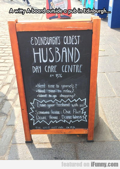 A Witty A-board...