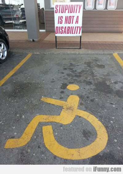 Stupidity Is Not A Disability...