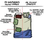 My Girlfriend's Pillow Strategy Vs. Mine