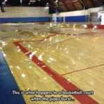 This Is What Happens To A Basketball Court...