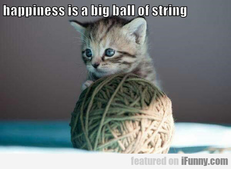 Happiness Is A Big Ball Of String