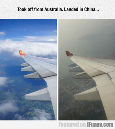 took off from australia...