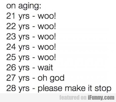 On Aging...