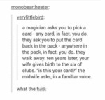 A Magician Asks You To Pick A Card