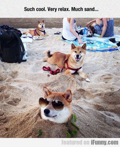 Such Cool Very Relax Much Sand