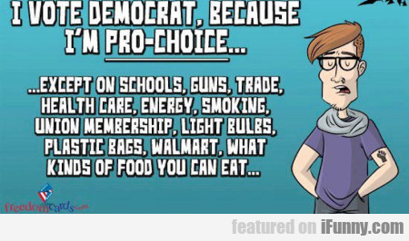 I Vote Democrat Because I M Pro Choice