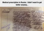 Medical Prescription In Russia...