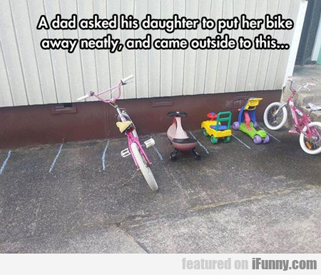 a dad asked his daughter...