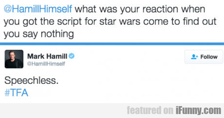 what was your reaction when you got the script...