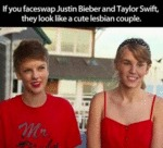 If You Faceswap Justin Bieber And Taylor Swift...
