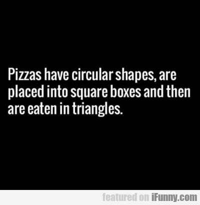 Pizzas Have Circular Shapes...
