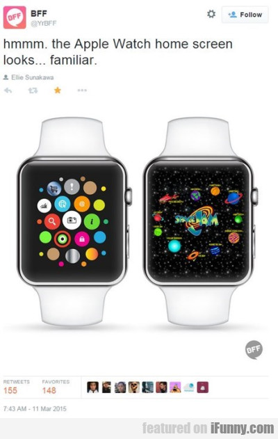 Hmm The Appe Watch Home Screen Looks Familiar