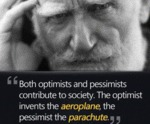 Both Optimists And Pessimists Contribute To Socie