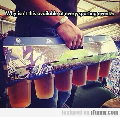 Why Isn't This Available At Every Sporting Event..