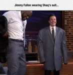 Jimmy Fallon Wearing Shaq'a Suit...