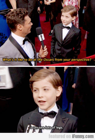 what's it like to be at the oscars...