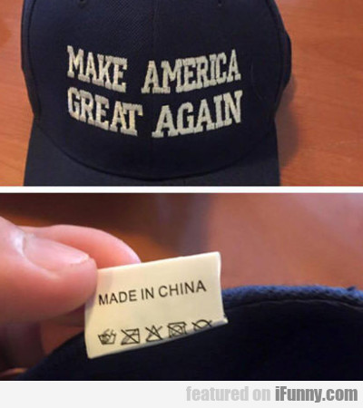 Make America Great Again...
