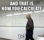And That Is How You Calculate 1 + 3...