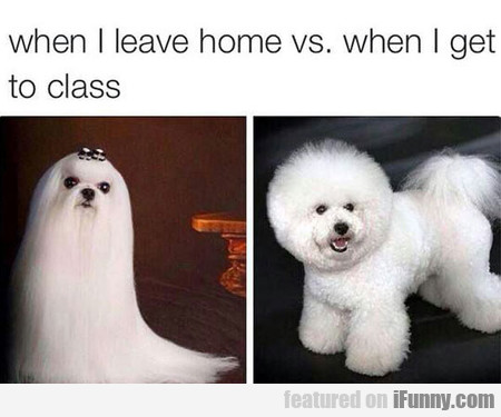 When I Leave Home Vs. When I Get To Class