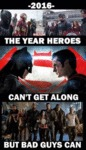 2016: The Year Heroes Can't Get Along...
