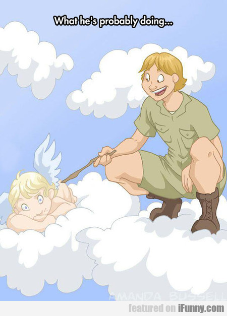 Steve Irwin - What He's Probably Doing...