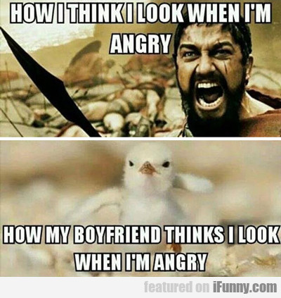 How I Think I Look When I'm Angry...