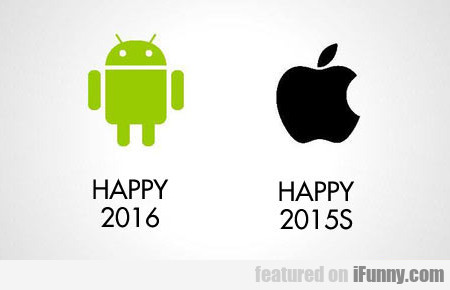 The New Year According To Android And Apple