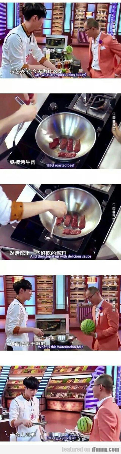 lay, what are you cooking today?
