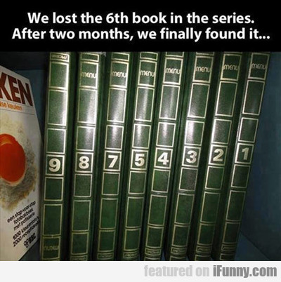 We Lost The Sixth Book...