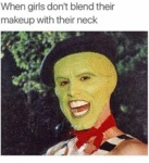 When Girls Don't Blend Their Makeup...