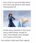 How Come No One Ever Talks About How Hans...