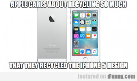 Apple Cares About Recycling So Much...