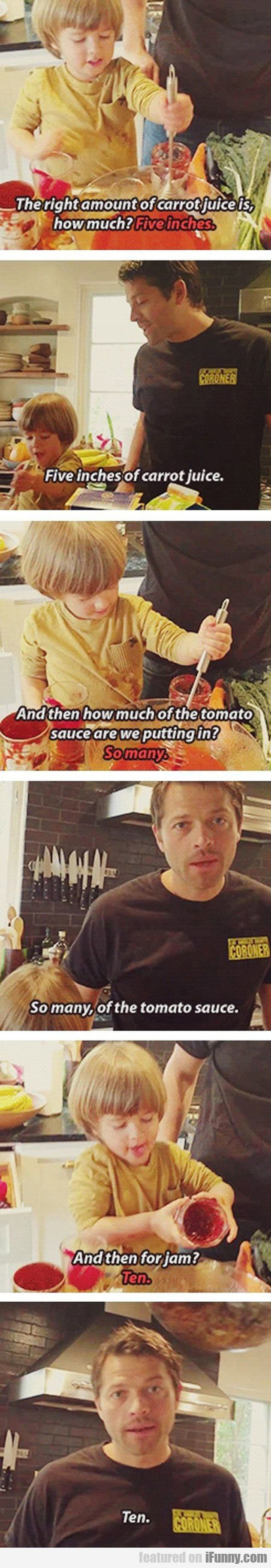 The Right Amount Of Carrot Juice Is...