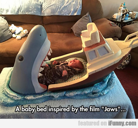 "A Baby Bed Inspired By ""jaws"""