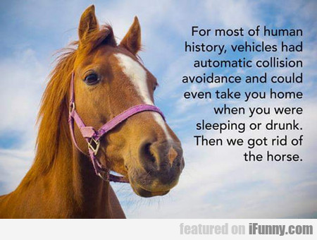 For Most Of Human History...