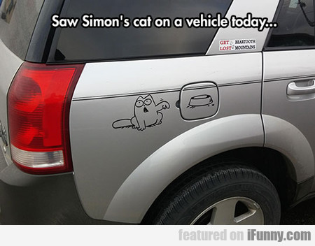 Saw Simon's Cat On A Car Today...