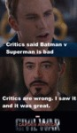 Critics Say Batman V Superman Is Bad...