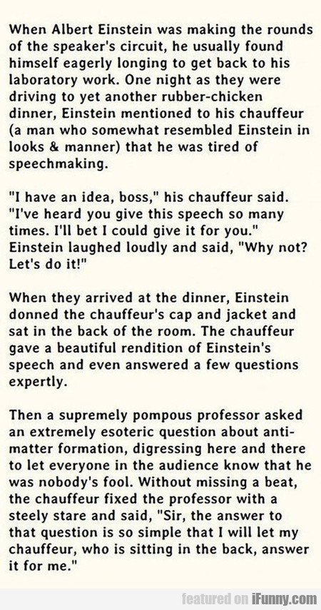 When Albert Einstein Was Making The Rounds...