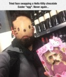 Tried Face Swapping A Hello Kitty...
