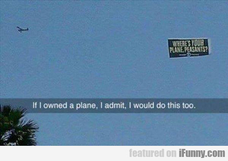 If I Owned A Plane...