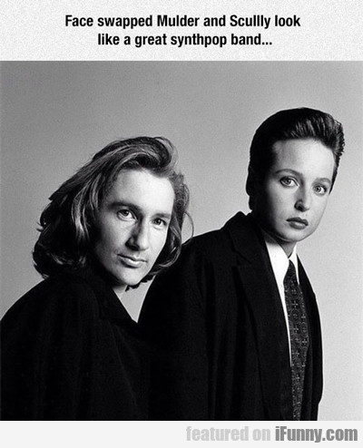 Face Swapped Mulder And Scully...